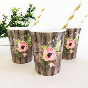 Floral Party Cups (Set of 25) image
