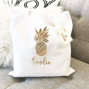 Personalized Tropical Tote Bags image