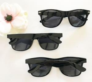 Blank All Black Sunglasses image