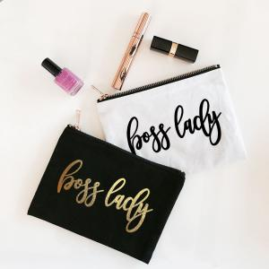 Boss Lady Canvas Cosmetic Bag image
