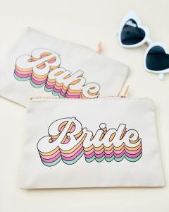 Retro Bridal Party Cosmetic Bags image