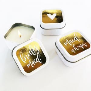 Gift Square Candle Tins (Set of 12) image