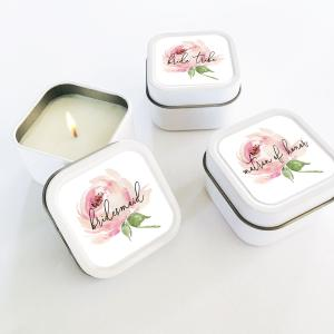 Bridal Party Candles (set of 12) - Spring Rose image