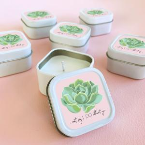 Can't Say I DO Succulent Candles (set of 12) image