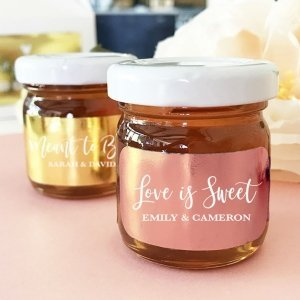 Personalized Foil Honey Jar Favors image