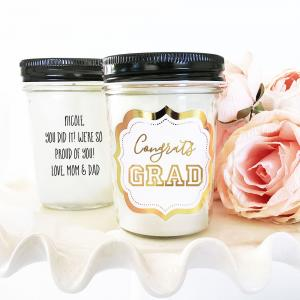 Graduation Mason Jar Candle image