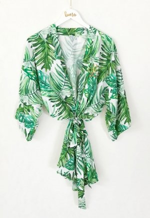 Monogram Palm Leaf Cotton Robes image