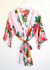 Monogram Watercolor Floral Robes image