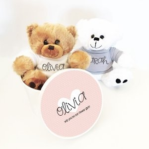 Custom Flower Girl or Ring Bearer Teddy Bear Gift image