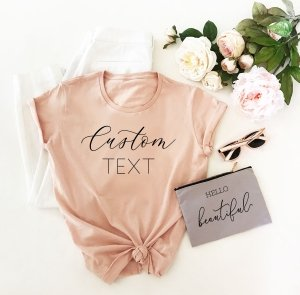 Custom Text T-Shirt - Semi Fitted image