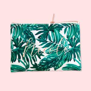Palm Leaf Cosmetic Bag image