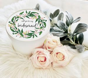 Round Gift Box - Bridal Party Wreath image