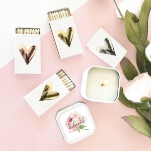 Heart Match Boxes (set of 6) image