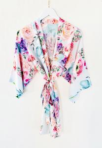 Monogram Succulent Cotton Robe image