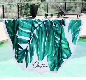 Personalized Palm Leaf Towel image