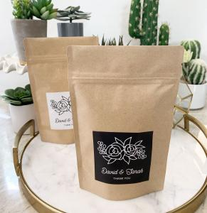 Floral Silhouette Paper Bags image