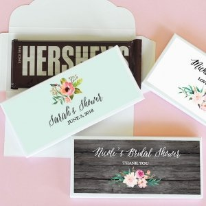 Personalized Floral Garden Candy Wrapper Covers image