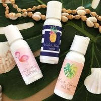 Personalized Tropical Beach Hand Lotion Favors