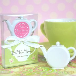 Tea Time Tape Measure Baby Shower Favors image