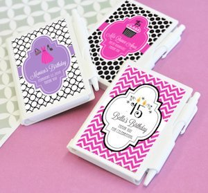 Personalized Notebook Sweet 15 Party Favors image
