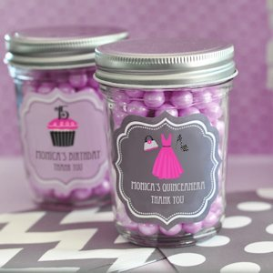 Personalized Quinceanera Favors Mini Mason Jars