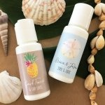 Personalized Tropical Beach Sunscreen Favors