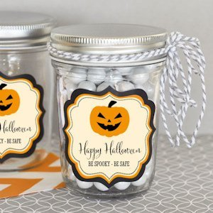 Personalized Classic Halloween Mini Mason Jars image