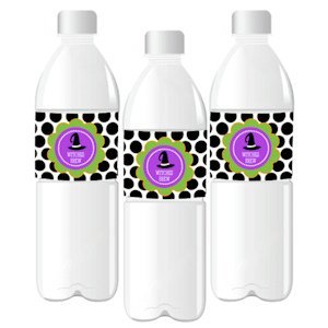 Personalized Spooky Halloween Water Bottle Labels image