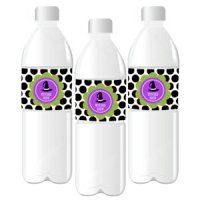 Personalized Spooky Halloween Water Bottle Labels