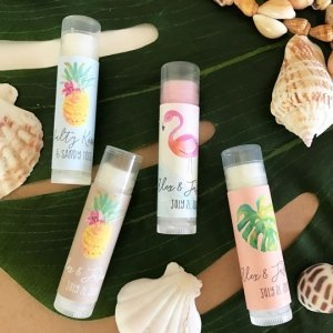 Personalized Tropical Beach Lip Balm Tubes image