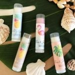 Personalized Tropical Beach Lip Balm Tubes