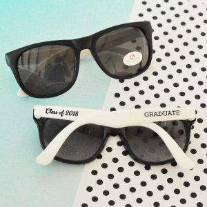 White Graduation Sunglasses Favors (Set of 6) image
