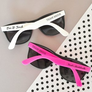 Personalized Wedding Sunglasses - White or Pink image
