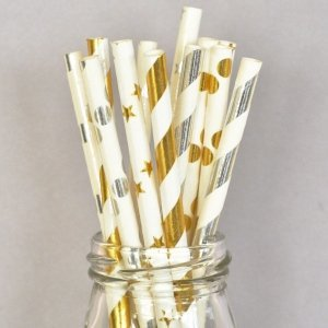 Metallic Foil Straws (Set of 25) image