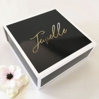 Black Personalized Gift Box