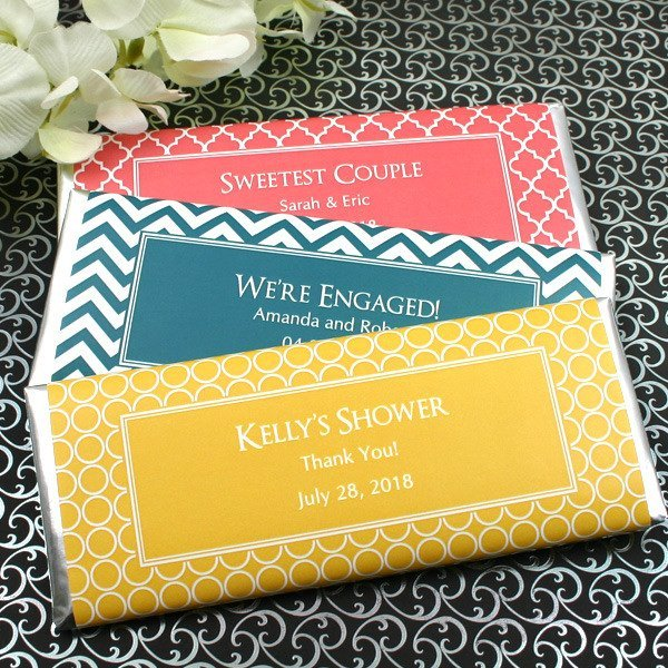 Personalized Wedding Candy: Personalized Wedding Chocolate Bar Favors (Many Designs