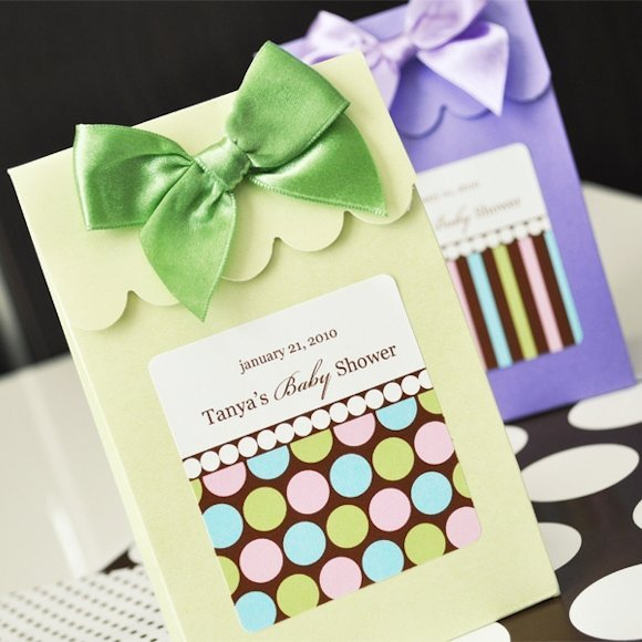 Dots And Stripes Personalized Candy Boxes Set Of 12