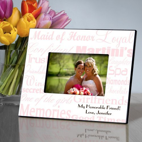 Personalized Maid Of Honor Picture Frames 7 Colors