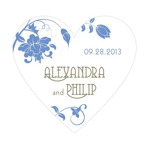 Floral Orchestra Heart Shaped Sticker (15 Colors)