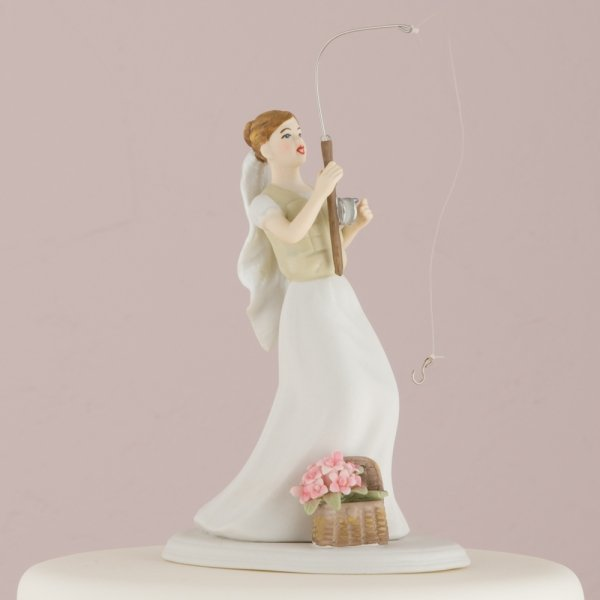 Fishing Bride Amp Caught Groom Mix And Match Cake Topper
