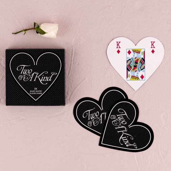 Heart Shaped Wedding Favor Playing Cards