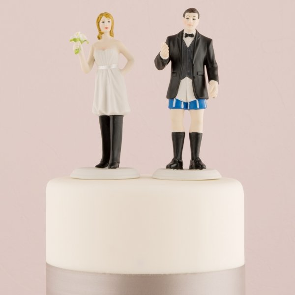 The Bride Wears the Pants Funny Wedding Cake Topper. Novelty Wedding Cake Toppers. Home Design Ideas