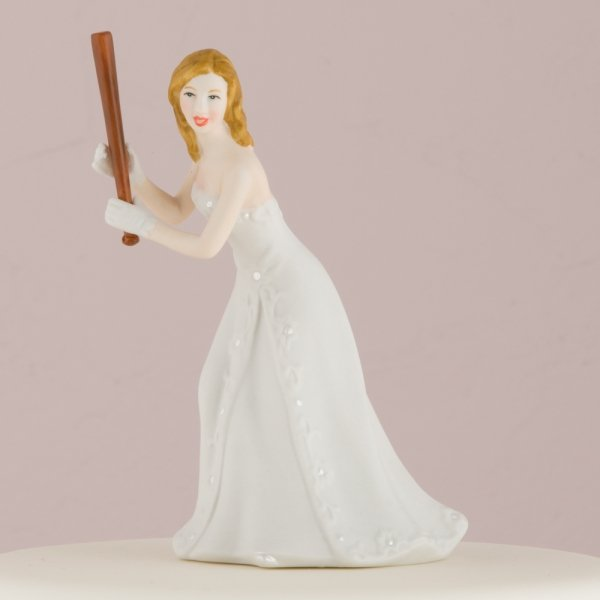 Baseball Wedding Cake Toppers Mix And Match Image Bride Groom Set Shown