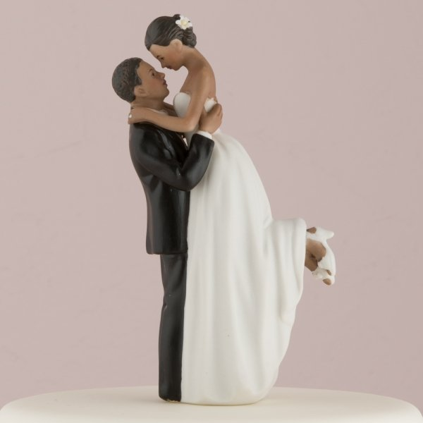 Bride And Groom Cake Toppers Skin Tones