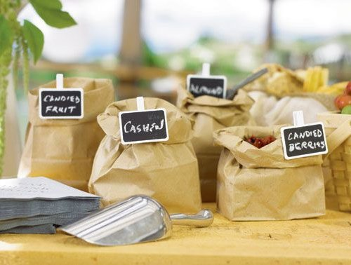 wedding decorations and favors mini rectangular wooden chalk board clip set of 24 9079