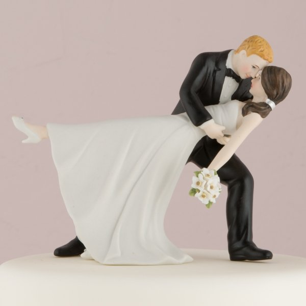 wedding cake topper groom dipping bride dip cake topper color options 26328