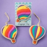 Hot Air Balloon Luggage Tag Favors