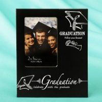 Black & Silver Graduation 2 x 3 Mini Frame