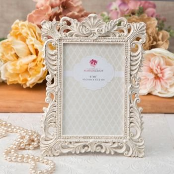 Antique Ivory 4x6 Frame with Brushed Gold Leaf image