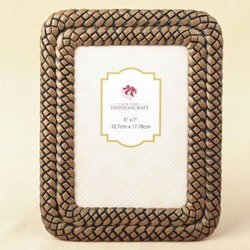 Double Braided Caramel Color 5 x 7 Frame image